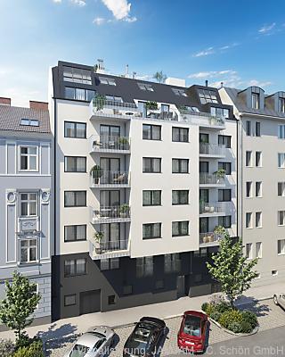 Rendering - Niedrigenergie-Neubau in Wien  - Wien, Visualisierung: JAMJAM ? C