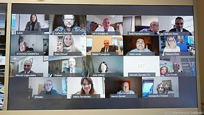 Das Kick-off-Meeting fand virtuell statt  - Leoben, Montanuni Leoben