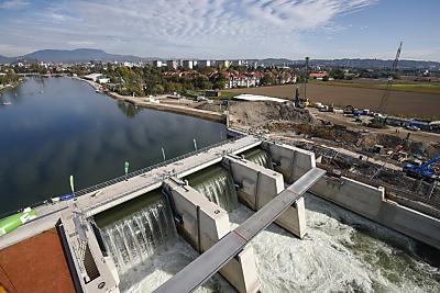 Wasserkraftwerk an der Mur  - Graz, APA