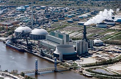 Das Kohlekraftwerk Moorburg an der Elbe  - Hamburg, APA/dpa