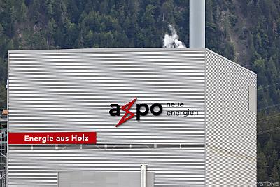 Ein Gebäude der Axpo-Holding  - DOMAT-EMS, APA/KEYSTONE