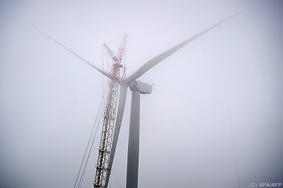 Eine Nordex-Turbine wird installiert  - Sainte-Lizaigne, APA/AFP