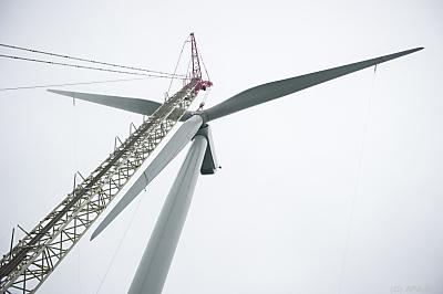 Installation einer Nordex-Turbine  - Sainte-Lizaigne, APA/AFP