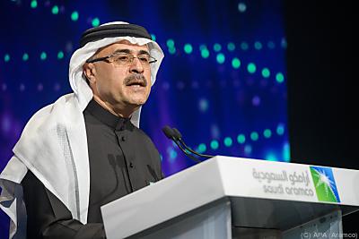 Aramco-CEO Amin Nasser freut sich über satte Gewinne  - Riyadh, APA (Aramco)