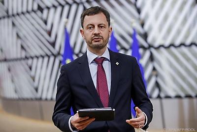 Eduard Heger, slowakischer Premierminister  - Brussels, APA/AFP/POOL