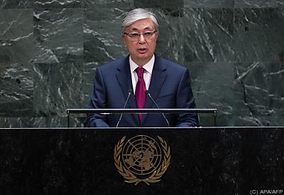 Der kasachische Präsident Kassym-Schomart Tokajew  - New York, APA/AFP