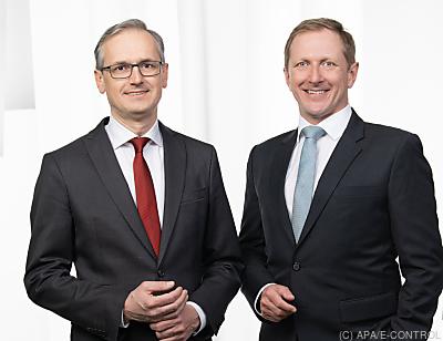 Vorstandsduo der E-Control, Wolfgang Urbantschitsch (l.) und Alfons Haber