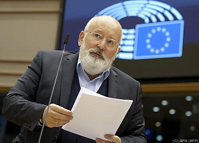 Timmermans steckt der EU ehrgeizige Klimaziele  - Brussels, APA (AFP)