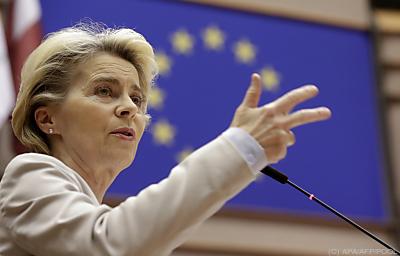 EU-Kommissionspräsidentin Ursula von der Leyen  - Brussels, APA/AFP/POOL