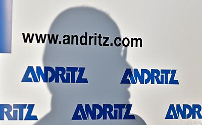 Andritz-Logo-Wand  - Wien, APA