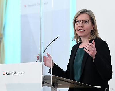 Umweltministerin kündigte Umstellung auf emissionsfreie Mobilität an  - Wien, APA