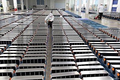 Werk für Lithium-Batterien für E-Autos  - Nanjing, APA/AFP