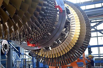 Eine Gasturbine von Siemens Energy  - Berlin, APA/dpa