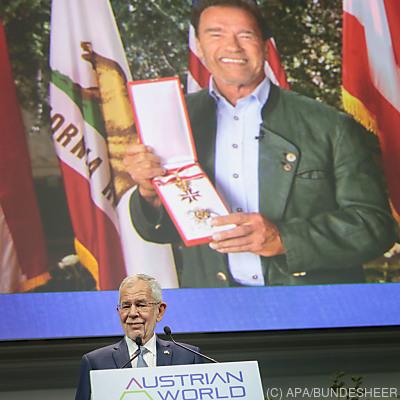 Schwarzenegger und van der Bellen beim Austrian World Summit 2020  - Wien, APA/BUNDESHEER