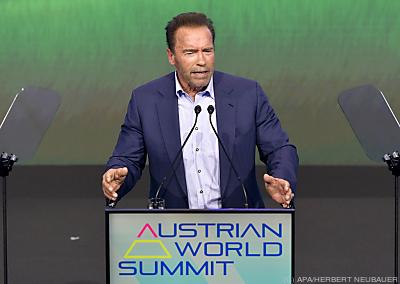 Arnold Schwarzenegger in Wien  - Wien, APA/HERBERT NEUBAUER