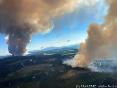 Die Hitzewelle führte in Kanada schon zu Waldbränden  - Kamloops, APA/AFP/BC Wildfire Service