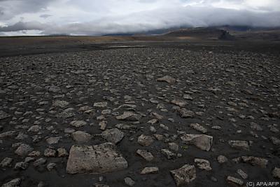 Ein isländisches Lavafeld mit schwarzem Basaltsand  - The Lambahraun lava field, APA/AFP