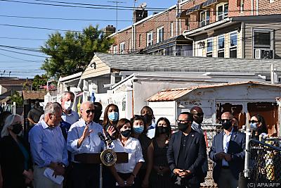 Biden bei einem Besuch im New Yorker Stadtteil Queens - Queens, APA/AFP