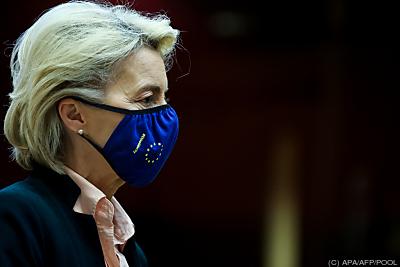 Kommissionspräsidentin Ursula von der Leyen  - Brussels, APA/AFP/POOL
