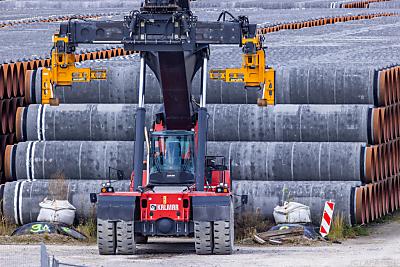 Die Pipeline ist zu 94 Prozent fertiggestellt  - Mukran, APA (dpa)