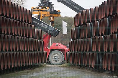 Die US-Regierung will die Fertigstellung des Mega-Projekts verhindern  - Sassnitz-Mukran, APA (dpa)