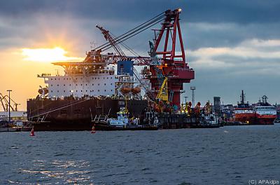 Verlegeschiff für die Pipeline  - Wismar, APA/dpa