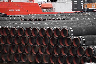 Rohre für die Pipeline  - Sassnitz-Mukan, APA/dpa