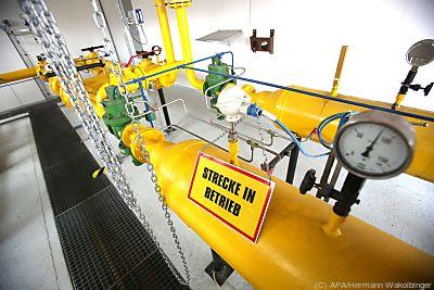 Wasserstoffeinspeisung in einer Test-Anlage  - Wien, APA/Hermann Wakolbinger