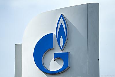 Logo von Gazprom  - Moscow, APA/AFP
