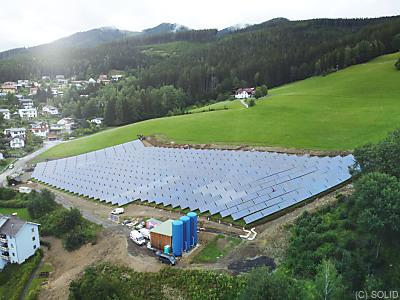 Handout - Solargroßanlage in Mürzzuschlag  - Mürzzuschlag, SOLID