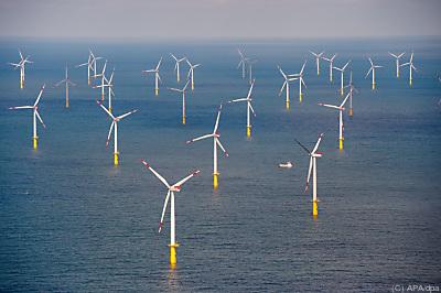 """Der Offshore-Windpark """"Butendiek"""" in der Nordsee"""