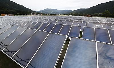 Der Solarpark hat 436 Großflächenkollektoren mit 5