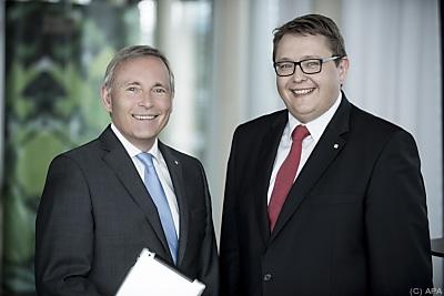 Der Vorstand: Christian Purrer (l