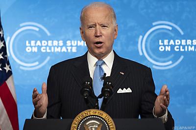 US-Präsident Biden bei seinem Klimagipfel  - Washington, APA/AFP